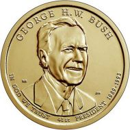 2020 George H.W. Bush Presidential Dollar - D