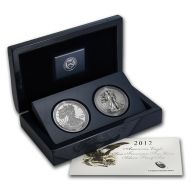 2012 American Silver Eagle 2 Coin San Francisco Set
