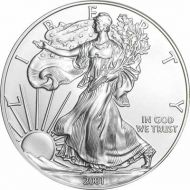 2001 American Silver Eagle - BU