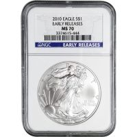 2010 American Silver Eagle - NGC MS 70 Early Release