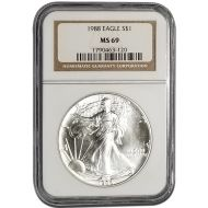 1988 American Silver Eagle - NGC MS 69