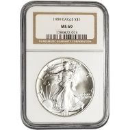 1989 American Silver Eagle - NGC MS 69
