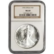 1992 American Silver Eagle - NGC MS 69