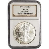 1997 American Silver Eagle - NGC MS 69