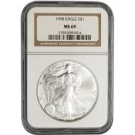 1998 American Silver Eagle - NGC MS 69