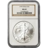 1999 American Silver Eagle - NGC MS 69