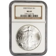 2000 American Silver Eagle - NGC MS 69