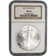 2001 American Silver Eagle - NGC MS 69