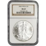 2002 American Silver Eagle - NGC MS 69