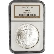 2003 American Silver Eagle - NGC MS 69