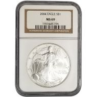 2004 American Silver Eagle - NGC MS 69