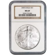 2005 American Silver Eagle - NGC MS 69