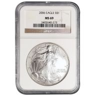 2006 American Silver Eagle - NGC MS 69
