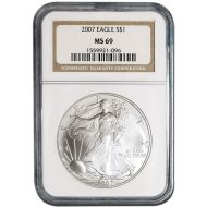 2007 American Silver Eagle - NGC MS 69