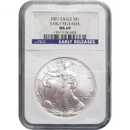 2007 American Silver Eagle - NGC MS 69 Early Release