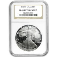 1987 American Silver Eagle - NGC PF 69