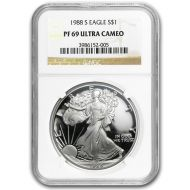 1988 American Silver Eagle - NGC PF 69
