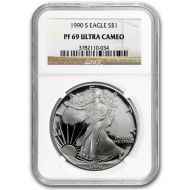 1990 American Silver Eagle - NGC PF 69
