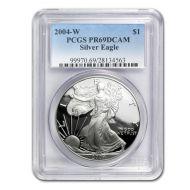 2004 American Silver Eagle - PCGS PF 69