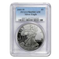 2005 American Silver Eagle - PCGS PF 69
