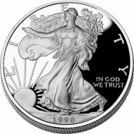 1990 American Silver Eagle - Proof (Coin Only)