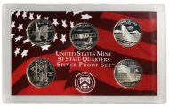 2001 United States 50 State Quarter Silver Proof Set - Coins Only