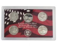 2005 United States 50 State Quarter Silver Proof Set - Coins Only
