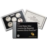 2011 America the Beautiful Quarter Silver Proof Set