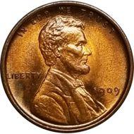 1909 VDB Lincoln Wheat Penny - BU (Brilliant Uncirculated)