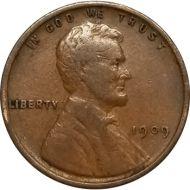 1909 VDB Lincoln Wheat Penny - F (Fine)