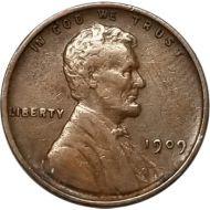1909 VDB Lincoln Wheat Penny - VF (Very Fine)