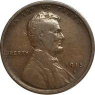 1915 D Lincoln Wheat Penny - F (Fine)