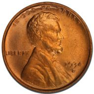 1934 D Lincoln Wheat Penny - Brilliant Uncirculated