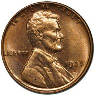 1935 D Lincoln Wheat Penny - Brilliant Uncirculated