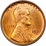 1937 D Lincoln Wheat Penny - Brilliant Uncirculated