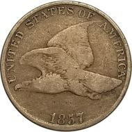 1857 Flying Eagle Penny - VG (Very Good)