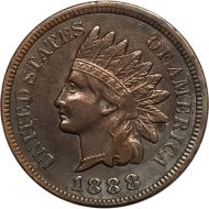 1888 Indian Head Penny - VF (Very Fine)