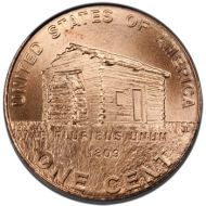 "2009 D Lincoln Penny ""Log Cabin"" - Brilliant Uncirculated"
