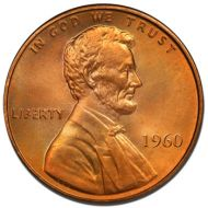 1960 Lincoln Memorial Penny - Brilliant Uncirculated