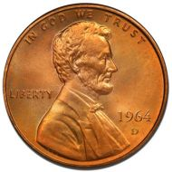 1964 D Lincoln Memorial Penny - Brilliant Uncirculated