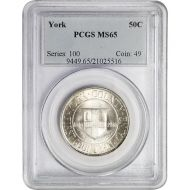 1936 York County Tercentenary - PCGS MS 65