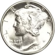 1943 D Mercury Dime - BU (Brilliant Uncirculated)