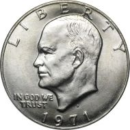 1971 D Eisenhower Dollar - Brilliant Uncirculated