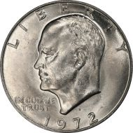 1972 D Eisenhower Dollar - Brilliant Uncirculated