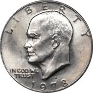 1978 D Eisenhower Dollar - Brilliant Uncirculated