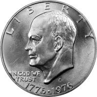 1976 S Eisenhower Dollar - Brilliant Uncirculated - 40% Silver