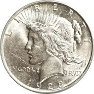 1923 D Peace Dollar - (AU) Almost Uncirculated