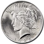 1925 S Peace Dollar - (BU) Brilliant Uncirculated