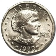 1980 S Susan B Anthony Dollar - Brilliant Uncirculated