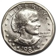 1981 D Susan B Anthony Dollar - Brilliant Uncirculated